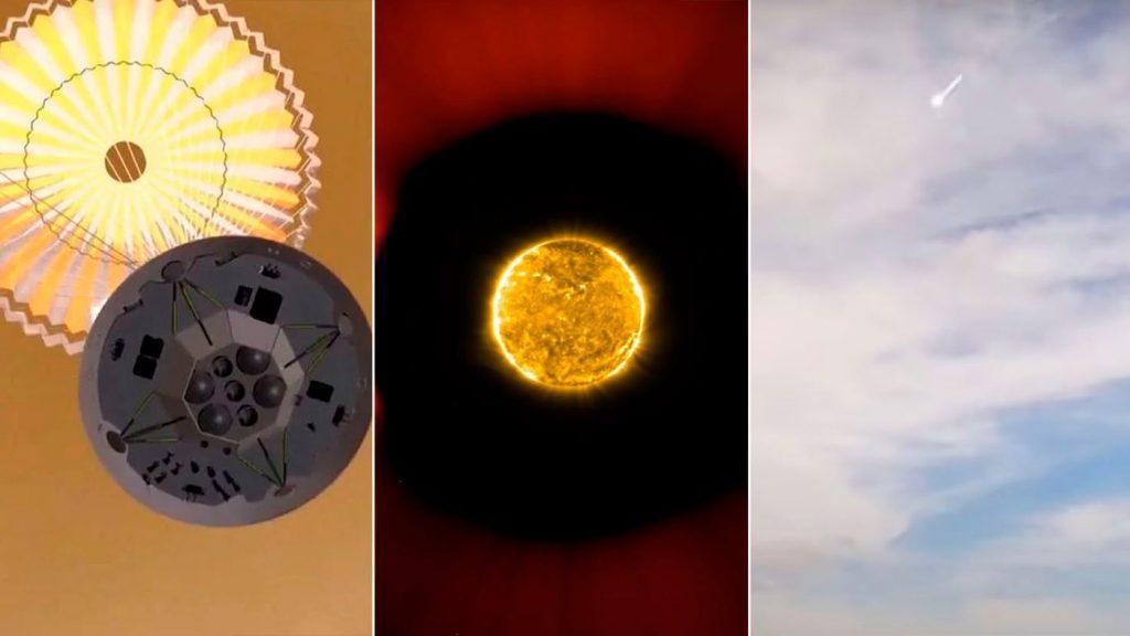 Il cielo (no) è il limite  Rover cinese su Marte, video del sole, meteorite in BA e +