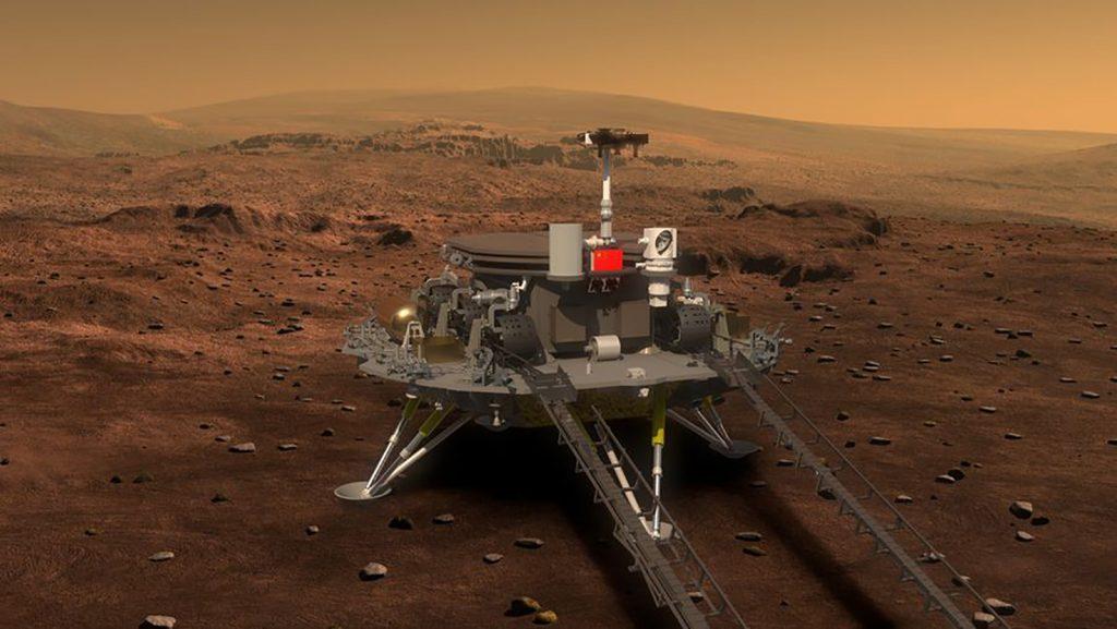 La navicella spaziale cinese atterra su Marte.  Vedere il momento esatto