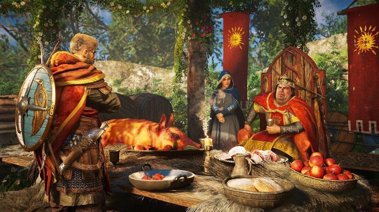 Re Carlos il Grasso, insieme alla regina Ricarda in Assassin's Creed - Comunicato stampa / Ubisoft - Comunicato stampa / Ubisoft