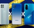 Confronto a grandezza naturale: Galaxy M62 vs. Moto G100, POCO F3 e altri concorrenti