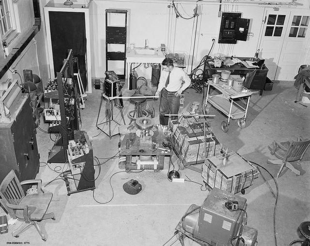 Riproduzione della stanza in cui Rubato ha condotto il suo esperimento