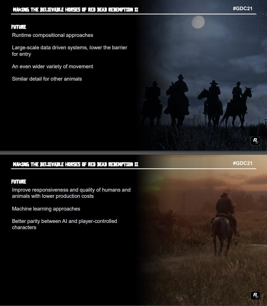 Parte della presentazione che descrive in dettaglio la tecnologia Rockstar Games che verrà utilizzata in giochi futuri come GTA 6.