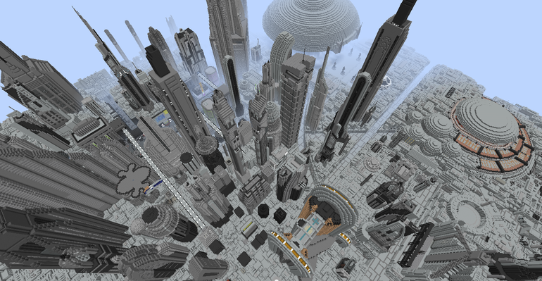 Coruscant in Minecraft.
