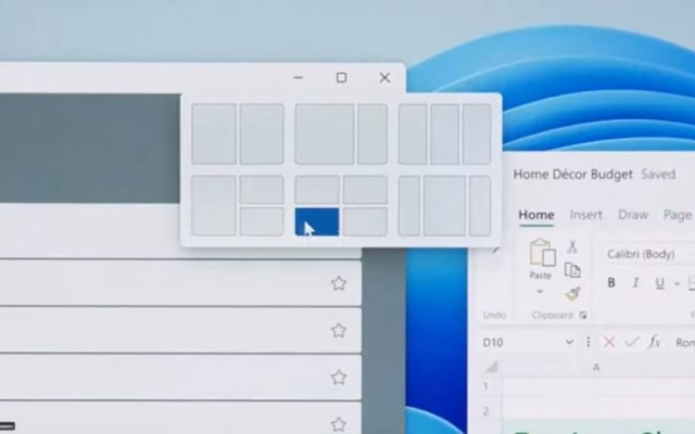 Microsoft ha annunciato Snaps Layouts, un modo per riorganizzare lo schermo più velocemente con interfacce già pronte per disporre più finestre in un modo unico.